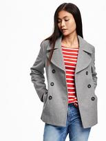 Old Navy Wool-Blend Peacoat for Women