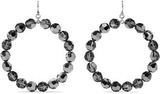 Chan Luu Sterling Silver Crystal Hoop Earrings