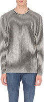 The Kooples Striped cotton-jersey top