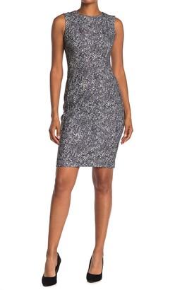 Calvin Klein Snake Print Sleeveless Sheath Dress