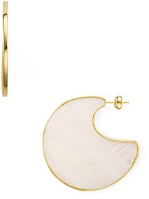 Argentovivo Mother-of-Pearl Sculptural Disc Drop Earrings in 18K Gold-Plated Sterling Silver
