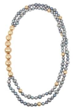 Robert Lee Morris Soho Mixed Pearl & Bead Double Row Necklace