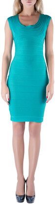 Herve Leger Jade Green Sleeveless Scoop Neck Bandage Dress XS