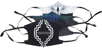 Marcelo Burlon County of Milan Pack Of 3 Cross Logo & Wings Active Mask