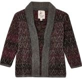 River Island Mini boys brown ombré knit open cardigan