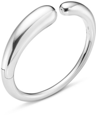 Georg Jensen Mercy Hinged Bangle Sterling Silver