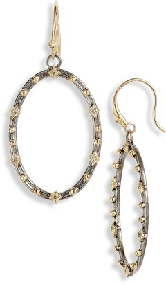 Armenta Old World Diamond Hoop Drop Earrings