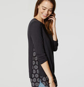 LOFT Paisley Two-In-One Sweater