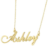 Zales Child's Script Name Necklace in 10K Gold (8 Letters)
