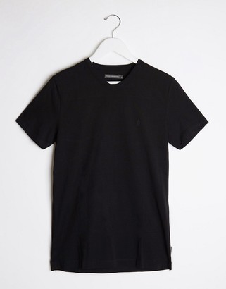 French Connection v neck t-shirt in black