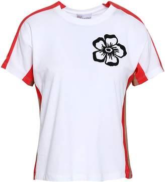 RED Valentino Printed Paneled Cotton-jersey T-shirt