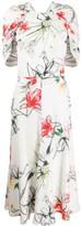 Alexander McQueen floral print gathered dress