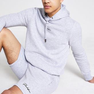 River Island Prolific grey slim fit hoodie