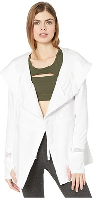 Blanc Noir Surfside Traveler Jacket (White) Women's Clothing