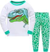 Canvos Little Boys Pajama Sets Dinosaur Pjs Set Cotton Toddler Sleepwear Size 2-7 Years (5Years, )