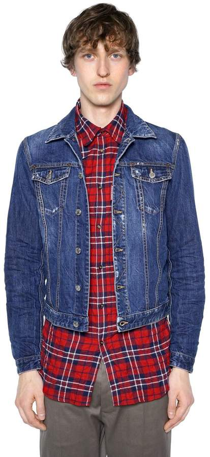 DSQUARED2 Dark Wash Cotton Denim Jacket