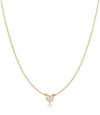 Tiffany & Co. Elsa Peretti Diamonds by the Yard heart necklace in 18k gold