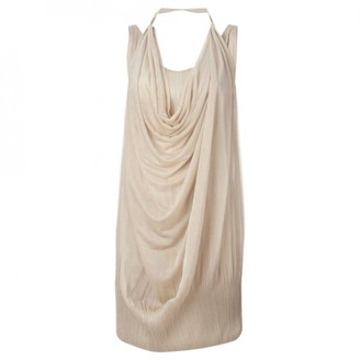 Issey Miyake Beige Synthetic Dresses