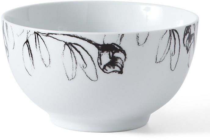 PPD Black & White Cereal Bowl