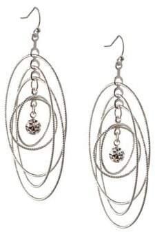 BCBGeneration Orbital Crystal Multi Circle Dangle & Drop Earrings