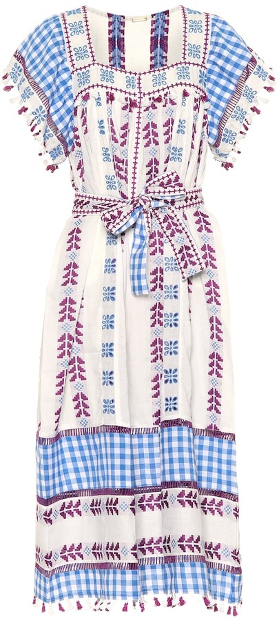 Dodo Bar Or Embroidered cotton dress