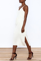 J.o.a. White Sleeveless Midi Dress