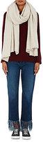The Elder Statesman Women's Cashmere Blanket Scarf-WHITE