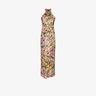 Borgo de Nor Womens Black Alyona Floral Print Maxi Dress
