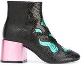 MM6 MAISON MARGIELA snakeskin effect boots