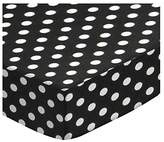 SheetWorld Extra Deep Fitted Portable / Mini Crib Sheet - Primary Polka Dots Woven - Made In USA