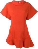 Awake short sleeve asymmetric top - women - Nylon/Virgin Wool - 38