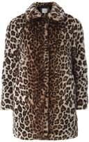Dorothy Perkins Petite Leopard Faux Fur Coat