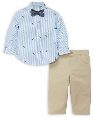 Little Me Little Boy's 3-Piece Nautical Shirt, Tie Pant Set