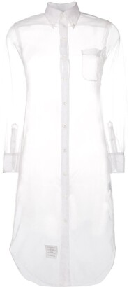 Thom Browne Sheer Mid-Length Shirt Dress