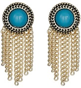Sam Edelman Stone Fringe Stud Earrings