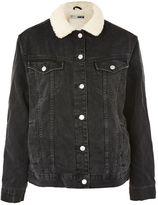 Topshop TALL Seam Oversized Borg Jacket