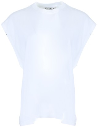 Givenchy White Flutter Sleeve T-shirt