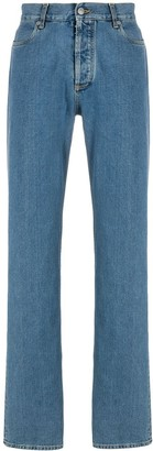 Maison Margiela stitching detail straight-leg jeans