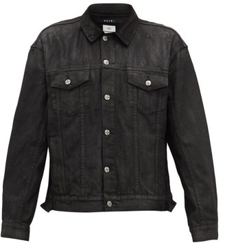 Ksubi Faded-effect Denim Jacket - Mens - Black
