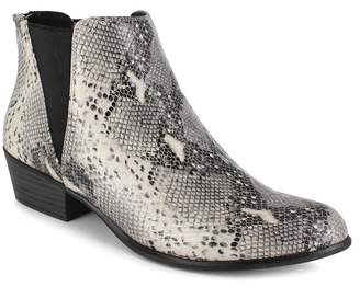 Esprit Tiffany Snakeskin Embossed Pointed Toe Ankle Bootie