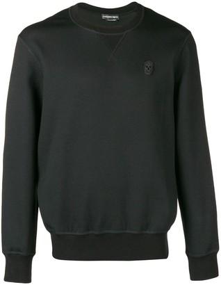 Alexander McQueen skull patch sweater