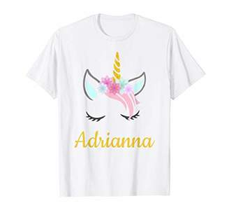 Adrianna Unicorn Name T-Shirt