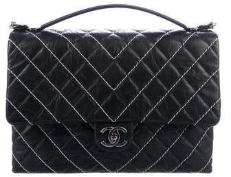 a5f7a57ee355 Chanel Large Flap Bag - ShopStyle