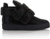 Giuseppe Zanotti Men's Crystal-Embellished Puff-Strap Sneakers-BLACK