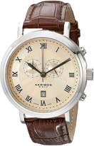 Akribos XXIV Men's AK591SS Swiss Chronograph Leather Strap Watch