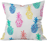 "Deny Designs Dash and Ash Pineapple Paradise 16"" Square Decorative Pillow"