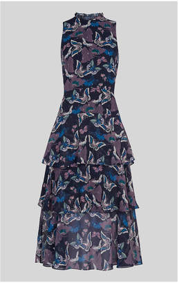 Whistles Papillion Print Tiered Dress