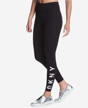DKNY Sport High-Rise Logo Workout Leggings