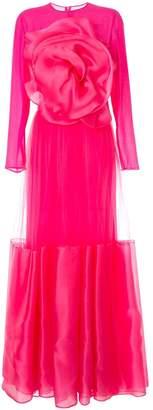 Costarellos floral embellished maxi dress