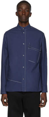 3.1 Phillip Lim Blue Band Collar Shirt